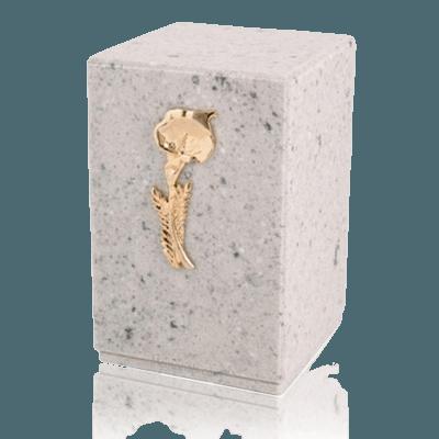 Memoriam Grey Marble Cremation Urn