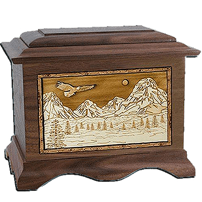 Mount Splendor Walnut Cremation Urn For Two