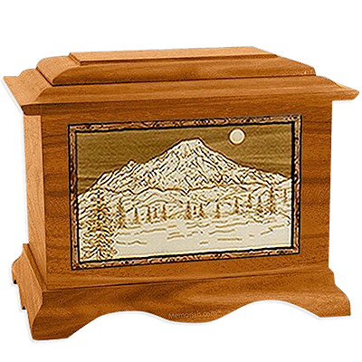 Mt Rainer Mahogany Cremation Urn For Two