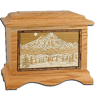 Mt Baker Oak Cremation Urn For Two