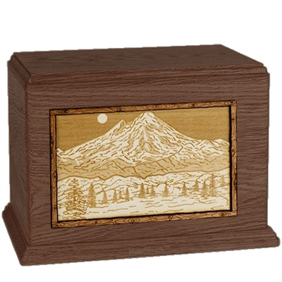 Mt Baker Walnut Companion Urn
