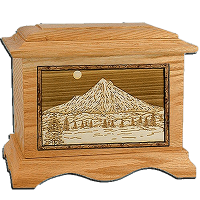 Mt Hood Oak Cremation Urn For Two