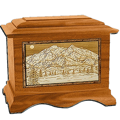 Mt Mckinley Mahogany Cremation Urn For Two