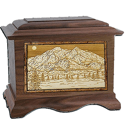Mt Mckinley Walnut Cremation Urn For Two