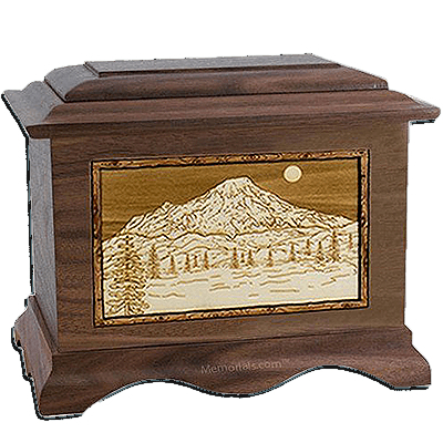 Mt Rainer Walnut Cremation Urn For Two