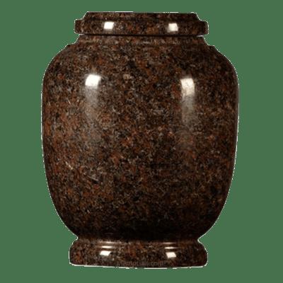 Mahogany Traditional Granite Cremation Urn