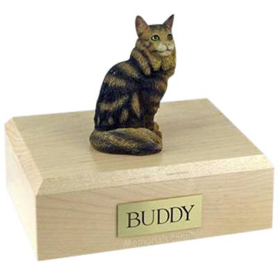 Maine Coon Brown Tabby X-Large Cat Cremation Urn