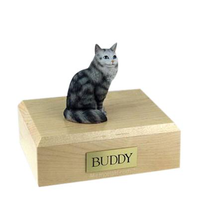 Maine Coon Silver Tabby Large Cat Cremation Urn