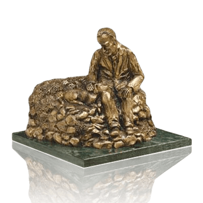 Man Resting Cremation Urns