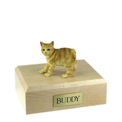 Manx Red Taby Medium Cat Cremation Urn