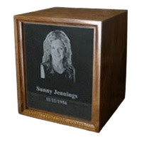 Marble Walnut Wood Cremation Urn