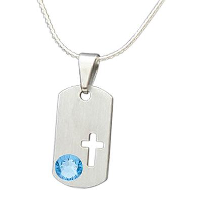 March Cross Cremation Pendant
