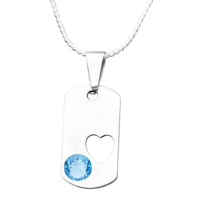 March Heart Cremation Pendant