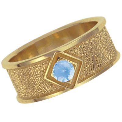 March Birthstone 14k Yellow Gold Ring Print Keepsake