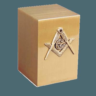 Masonic Bronze Cremation Urn