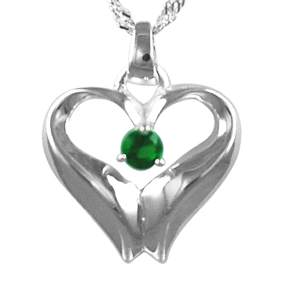 May Birthstone Cremation Heart
