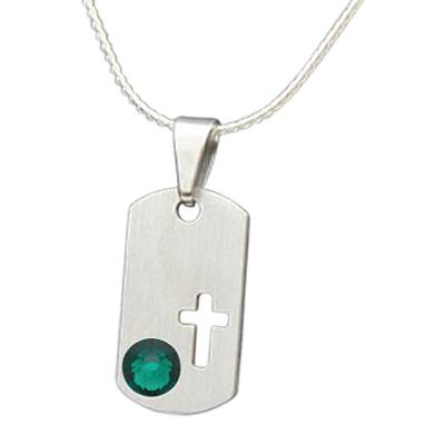 May Cross Cremation Pendant