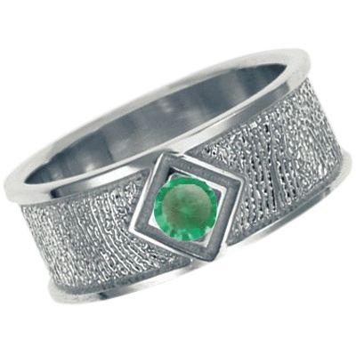 May Birthstone Sterling Silver Ring Print Keepsakes
