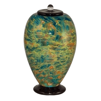 Meadow Glass Cremation Urn