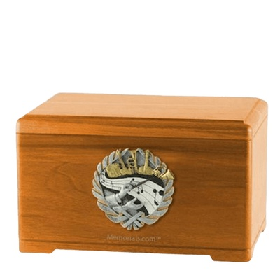 Melodic Oak Cremation Urn