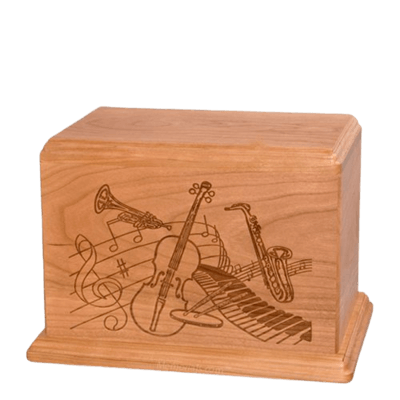 Melody Individual Cherry Wood Urn