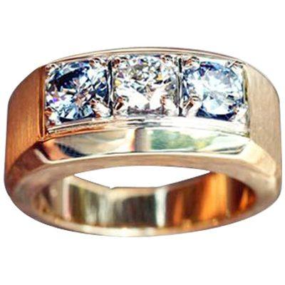 Mens 3 Stone Ring