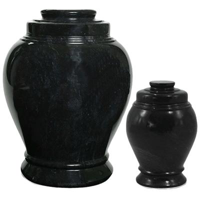 Midnight Marble Cremation Urns