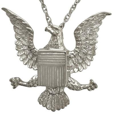 Military Eagle Cremation Pendant III