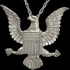 Military Eagle Cremation Pendant