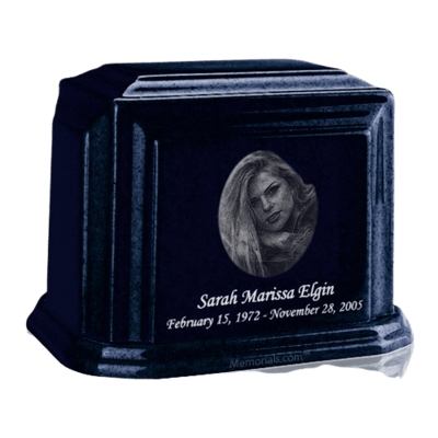 Millennium Sapphire Blue Large Marble Urn