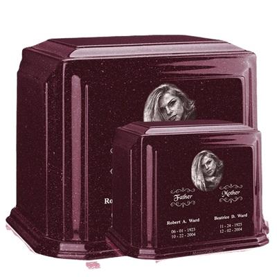 Millennium Burgundy Marble Urns