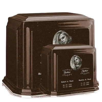 Millennium Chocolate Marble Urns