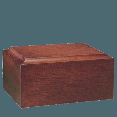 Minimalist Mahogany Companion Urn