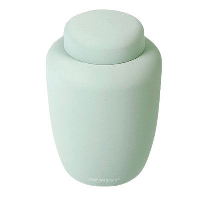 Mint Cornstarch Biodegradable Urn