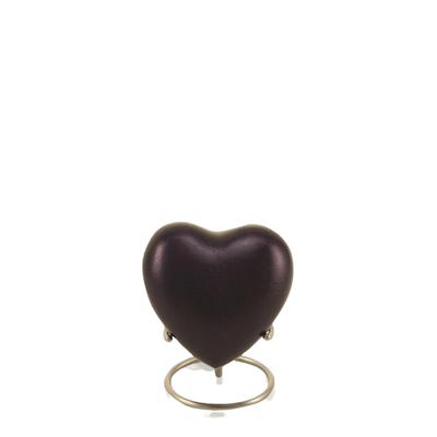 Mod Violet Heart Keepsake Urn