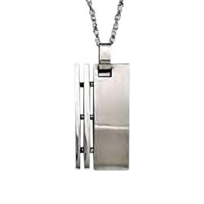 Modern Rectangle Cremation Pendant