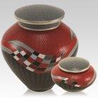 Modern Rosso Cloisonne Cremation Urns