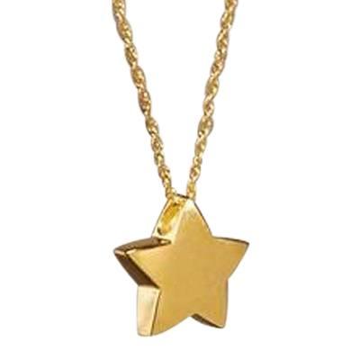 Modern Star Cremation Necklace