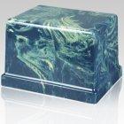 Moderno Navy Marble Cremation Urn