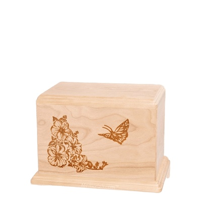 Monarch Small Maple Wood Urn