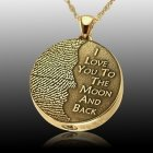 Moon 14k Gold Cremation Print Keepsake