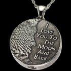 Moon Silver Cremation Print Keepsake
