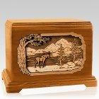 Moose Mahogany Hampton Cremation Urn