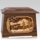 Moose Walnut Aristocrat Cremation Urn