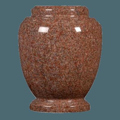 Morning Rose Granite Cremation Urn