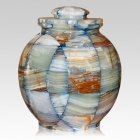 Mosaic Blue Cremation Urn