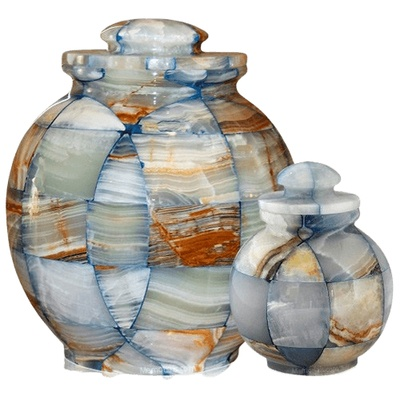 Mosaic Blue Cremation Urns