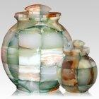 Mosaic Green Cremation Urns