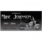 Motorcycle Granite Memorial Stone