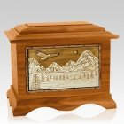 Mount Splendor Mahogany Cremation Urn
